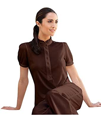 Barco spa verite mona mandarin tunic top clothing for Spa uniform amazon