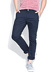 Being Human Men's Casual Trousers (8903861260458_BHNDC6008_36W x 33L_Dark Navy)