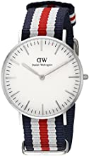 Comprar Daniel Wellington - Reloj para mujer con correa de nylon, color blanco / gris
