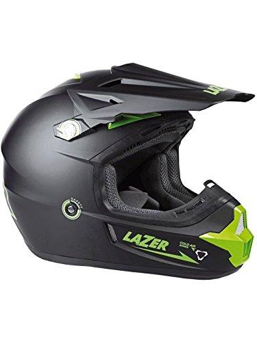 Casque Motocross Lazer X7 X-Line Noir-Vert-Matt