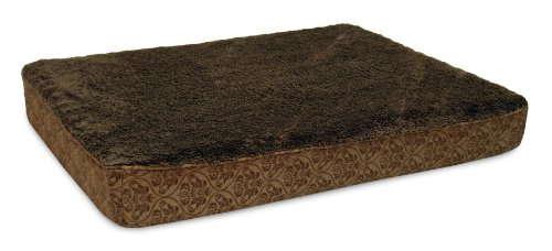 Petmate Double Orthopaedic Pet Bed, 30  inch by 40 inch, Brown Damask