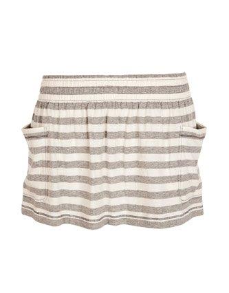Soul Cal Cali Stripe Skirt - Light grey - Womens