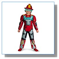 Disguise Boy's Transformers Heatwave Rescue Bots Toddler Muscle Costume, 2T