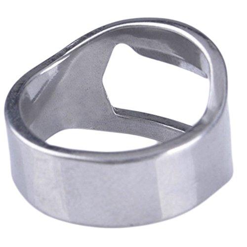 aihometm creative design dita in acciaio inox bottiglia di birra Opener ring-shape