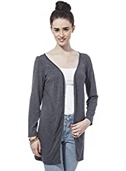 Besiva Women'S Grey Lace Cardigan