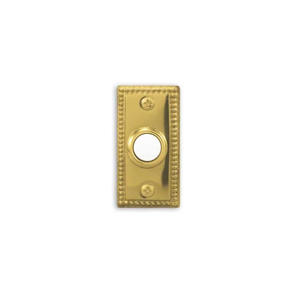 Heath Zenith Wired Polished Brass Push Button With Lighted Center LE 222 C