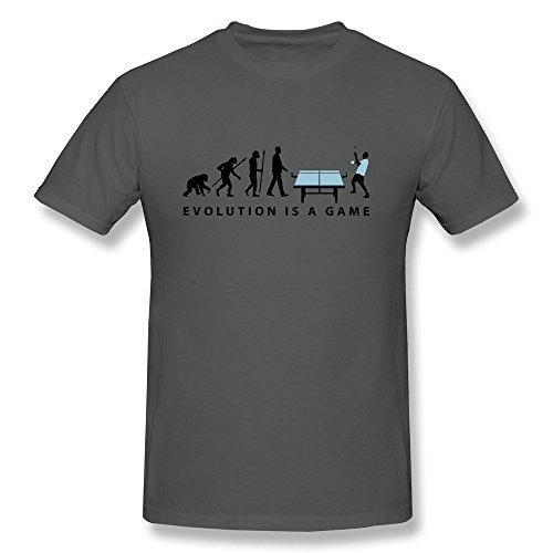 Mens Evolution Table Tennis O Neck T-Shirt Size Xs Color Deepheather
