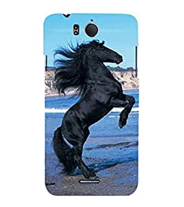 Vizagbeats black horse Back Case Cover for Infocus M530