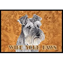 Schnauzer Wipe Your Paws Indoor / Outdoor Floor MAT 18 X 27 Inches