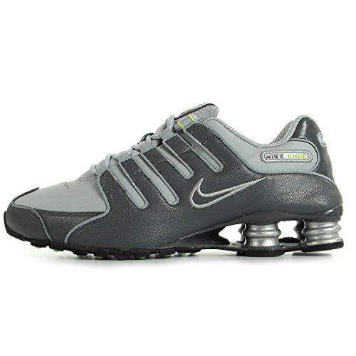 NIKE Nike Shox Nz 378341-009, Herren Sportschuhe, Grau (Dark Grey/Dark Grey-Wolf Grey-Volt-Black-Metallic Silver), EU 41