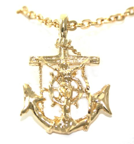 Mens necklaces large mens 24k gold layered jesus anchor pendant cheap large mens 24k gold layered jesus anchor pendantcharm necklace lifetime warranty and gift boxed review aloadofball Choice Image