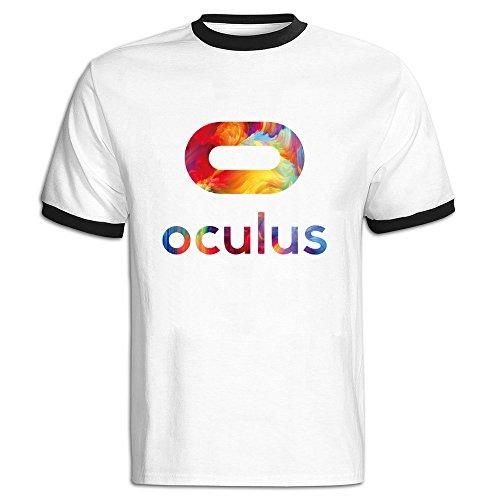 Fashion Mens Oculus Rift Cotton T Shirt Medium Black (Oculus Developers Kit compare prices)