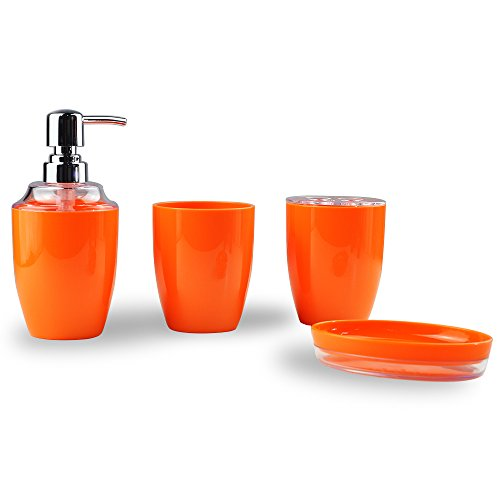 orange bathroom decor