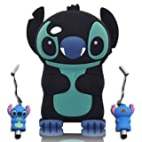 3D Stitch & Lilo ipod touch 4 Soft Silicone Case Cover Faceplate Protector For itouch 4g 4th Generation - Black