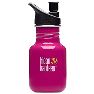 Klean Kanteen 12-Ounce Classic Sport Cap 2.0 Stainless Steel Water Bottle, Active Pink