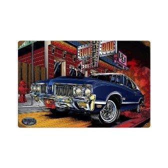 Past Time Signs MNI019 Olds 442 Automotive Vintage Metal Sign