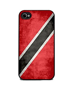 Trinidad and Tobago Flag - iPhone 4 or 4s Cover, Cell Phone Case - Black