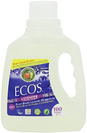 Earth Friendly Products Ecos Liquid Laundry Detergent, Lavender