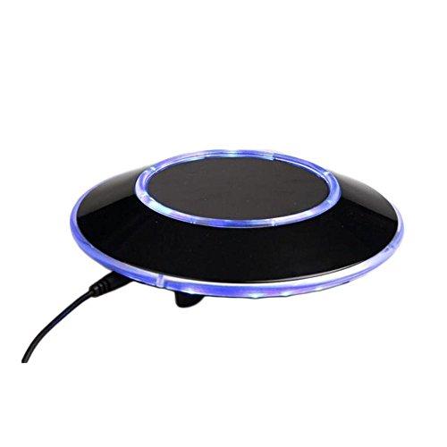 Senders 6Inch Floating Globe with LED Lights Magnetic Levitation Floating Globe World Map for Desk Decoration (Blue,6Inch) 2