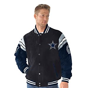 NFL Dallas COWBOYS Officially Licensed Suede Varsity Jacket ~XL by G 111