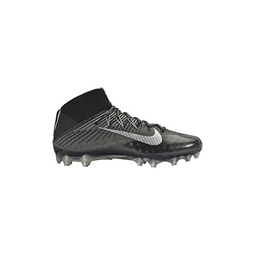 Men's Nike Vapor Untouchable 2 Football Cleat Black/Anthracite/Metallic Silver Size 12 M US (Nike Vapor 12 compare prices)