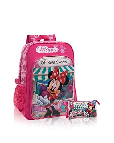 Disney Mochila + Estuche Minnie Sew