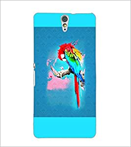 PrintDhaba Parrot D-5964 Back Case Cover for SONY XPERIA C5 ULTRA (Multi-Coloured)
