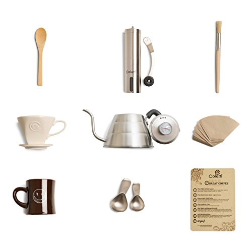 Coletti COL107 Complete 10 Piece Pour Over Coffee Set