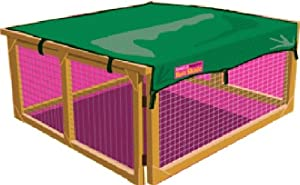 Scratch and newton large rabbit run shade cover 126 x for How to make a rabbit hutch from scratch
