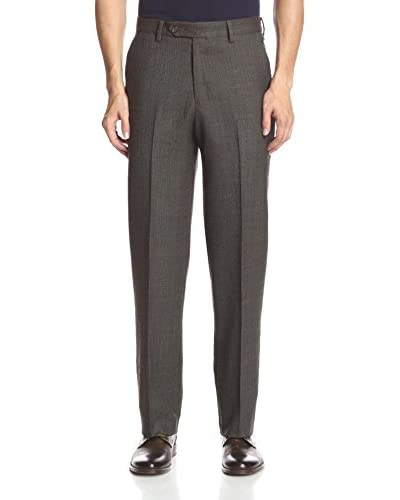 Berle Men's Tic-and-Weave Flat Front Pant