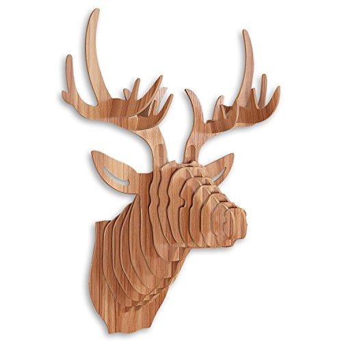 arte-dal-mondo-wd001ma-puzzle-3d-cervo-legno-faggio-64-x-49-x-35-cm