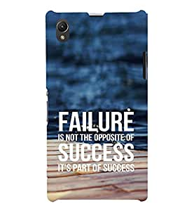 EPICCASE Failure is part of success Mobile Back Case Cover For Sony Xperia Z1 (Designer Case)