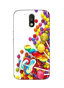 iSweven printed MOTOG4P_3244 colorful chocolates Design Multicolored Matte finish Back case cover for Motorola MOTO G4 PLUS