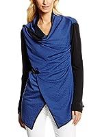 William de Faye Chaqueta Gilet Col Chale Bi-Couleur (Azul Marino / Negro)