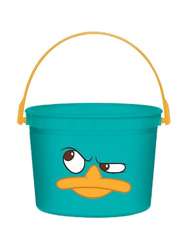 Amscan Unisex Adult Disney Phineas and Ferb Favor Bucket Aqua Medium
