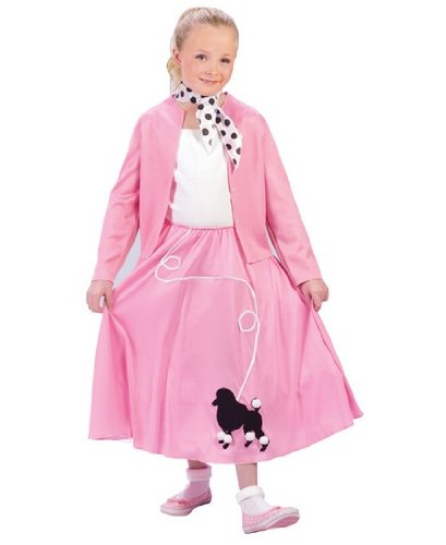 Grease Poodle Skirt/sweater Costume - Child Costume - Large