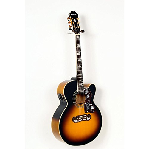 Epiphone EJ-200SCE Acoustic-Electric Guitar Vintage Sunburst 888365488189
