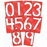 Roylco Big Number Stencils, 5 x 9 Inches, Set of 10 (Tamaño: 5 x 9 Inches)