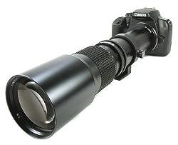 BOWER 500mm Preset Telephoto Lens for Canon dSLR XS XSI XT T1i T2i T3 T3i T4i 60D 7D 5D Mark II5D Mark III