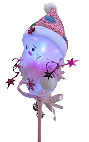 クリスマス ピカッ 光る 雪ダルマ スティック 棒 ( レッド )( 子供 おもちゃ プレゼント 聖夜 パーティー イルミネーション イベント X'mas )