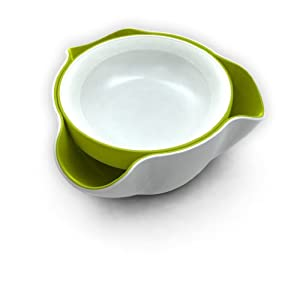 Joseph Joseph Double Dish, White and Green