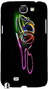Amazing 3D multicolor printed protective REBEL mobile back cover for Samsung Note-2 - D.No-DEZ-2122-n2