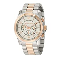 Women Michael Kors MK8176 Two Tone Stainless Steel Case and Bracelet Chronograp