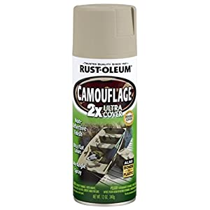 Rust-Oleum 279180 Specialty Camouflage Ultra Cover 2X Spray Paint, Sand, 12-Ounce