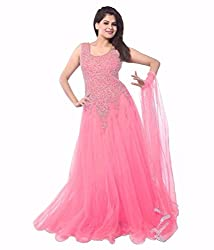 Bhvya Enterprise Lollipop Baby Pink Net Gown