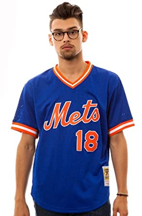 Mitchell & Ness Mens New York Mets 1986 Darryl Strawberry Jersey by Mitchell & Ness