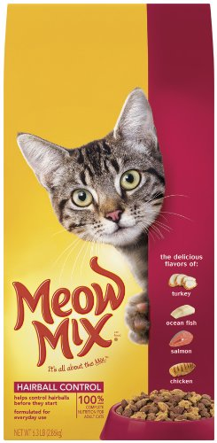 See Meow Mix Hairball Control, 6.3-Pounds