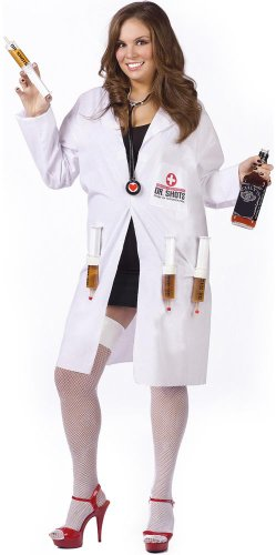 Fun World Women's Dr Shots Plus Size Costume