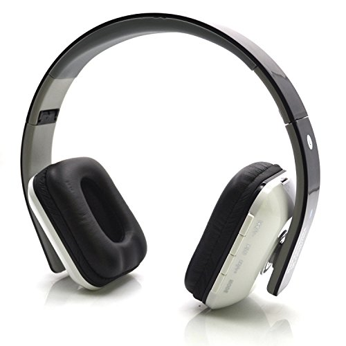 Bluetooth Headphones With Built-In Microphone & 200 Hours Playing Battery / With Fm Radio & Micro Sd Card Slot Function/ Retractable And Foldable Design,Noise-Cancellation Stereo Headphone Headsets For Music Streaming & Handsfree Calling For Samsung, Appl