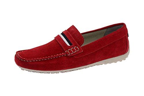 Geox Snake Mokassin Schuhe rot Slipper U5207A Rot, EU 47